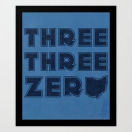 Three Three Zero - OHIO Art Print