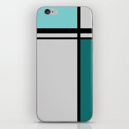 Cross Lines in turquoises iPhone Skin