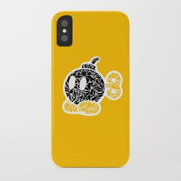 Bob Omb #CrackedOutBadGuys iPhone Case