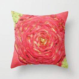 Swirling Rose Throw Pillow