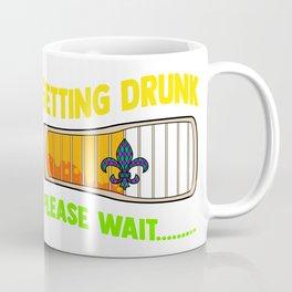Mardi Gras Getting Drunk Coffee Mug