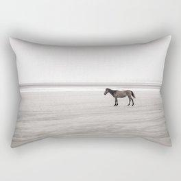 Horse a la playa Rectangular Pillow