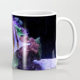 White and Yellow Butterfly Fish Coffee Mug