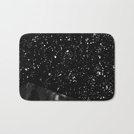 Moon Rising in the dark Black and White Bath Mat
