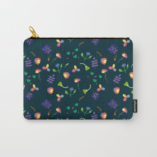 Spring Floral Pattern II Carry-All Pouch
