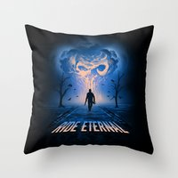 mad max Throw Pillows featuring Mad Max: Fury Road by Alyn Spiller
