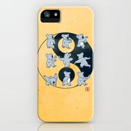 Koala Bear Tai Chi Moves iPhone Case