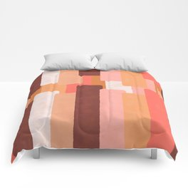 Line In Coral #society6 #abstractart Comforters