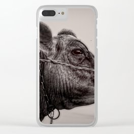 Cows Great Escape Clear iPhone Case