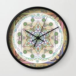 Compassion Mantra Rainbow Mandala Wall Clock