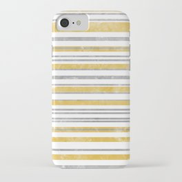 Sun Kissed Stripes: Silver and Gold iPhone Case