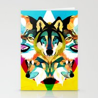 wolves Stationery Cards featuring wolves by Alvaro Tapia Hidalgo