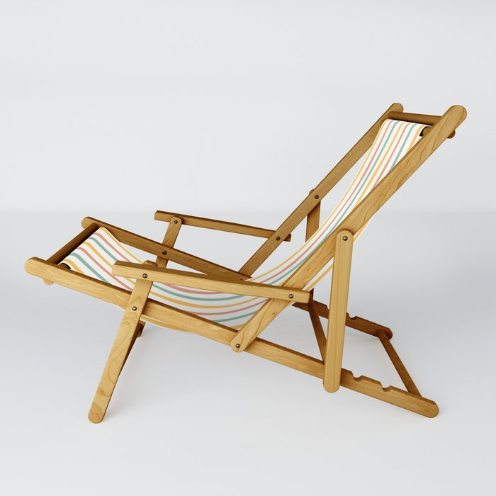 Stripes Stripped Pattern Muted Sling Chair