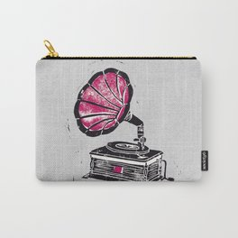 Linocut Gramophone Carry-All Pouch