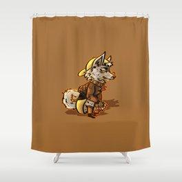 Doggo Punk Shower Curtain