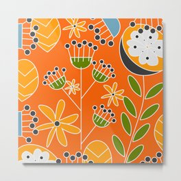 Sunny floral decor Metal Print