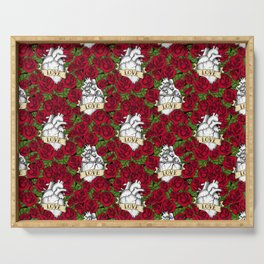Heart and Roses_Love - Red Serving Tray