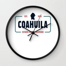 Coahuila Mexico State License Plate Design Wall Clock