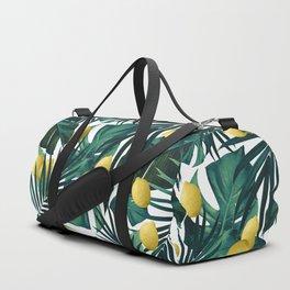 Tropical Lemon Twist Jungle #1 #tropical #decor #art #society6 Duffle Bag