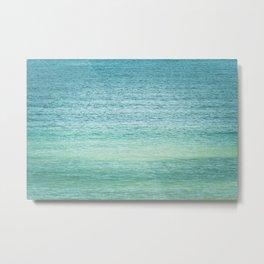 Ombre Ocean Teal Green Blue Metal Print