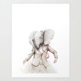 Elephant Dance Art Print