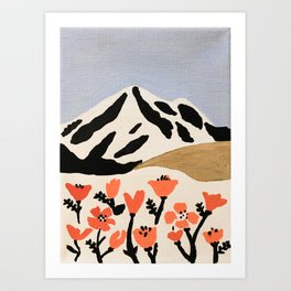 spring mountains Art Print
