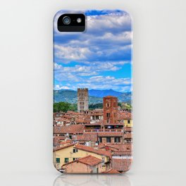 Beautiful medieval town Lucca in Tuscany. iPhone Case
