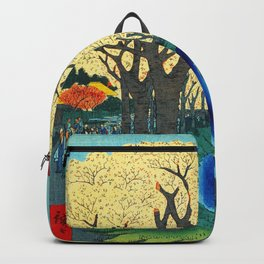 Cherry Blossoms on the Tama River Backpack