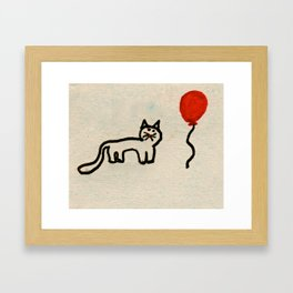 Maisy & Balloon Framed Art Print