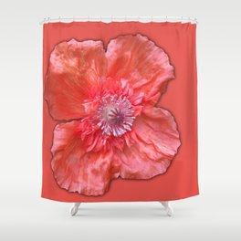 Poppy monochromatic Shower Curtain