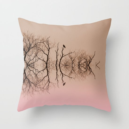 Branches and Birds Throw Pillow