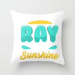 Cute & Funny I'm A Freakin' Ray of Sunshine Throw Pillow