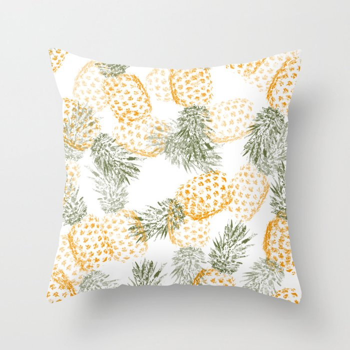 Pineapple mess Throw Pillow