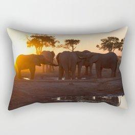 Elephants at Sunset Rectangular Pillow