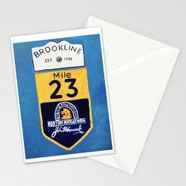 Boston Marathon, Brookline Mile Marker 23 Stationery Cards