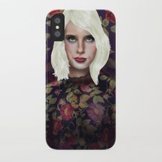 Young Girl and Flowers (Emma Roberts) iPhone X Slim Case