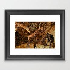 Three Giraffes Framed Art Print