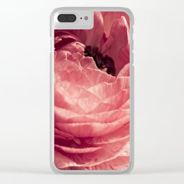 pink petals Clear iPhone Case