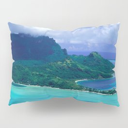 Tropical Tahiti Island Paradise From a Helicopter View Pillow Sham