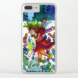 Forest Dance Clear iPhone Case