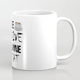 Coffee Survive Wine Repeat Funny Caffeine Addict Alcohol Lover Meme Coffee Mug