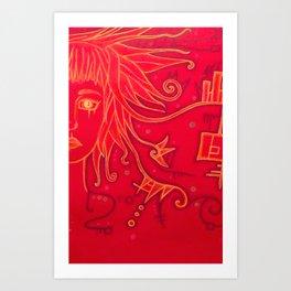 Thinking2 Art Print