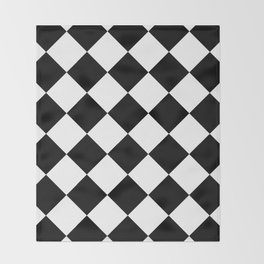 Diamond (Black & White Pattern) Throw Blanket