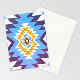 Bright blue native pattern Stationery Cards