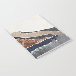 Mount Hood // Daylight Art Print Oregon Stratovolcano Rose Gold Silver Blue Cream Black Mountain Notebook