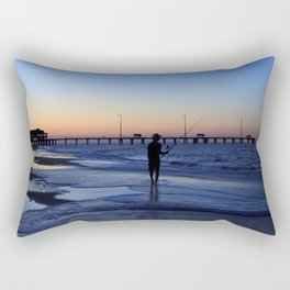 Surf Fishing Outer Banks Rectangular Pillow