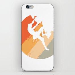 Rock Climbing Mountain Climber Vintage Color iPhone Skin