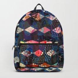 Tumbling Blocks Dark Blues Backpack