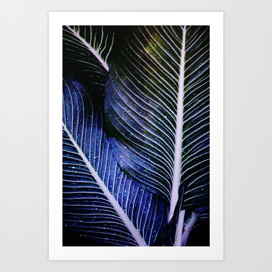 galactic leaves Art Print