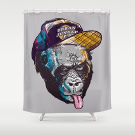 Gorillas Thinkers of the Urban Jungle Shower Curtain